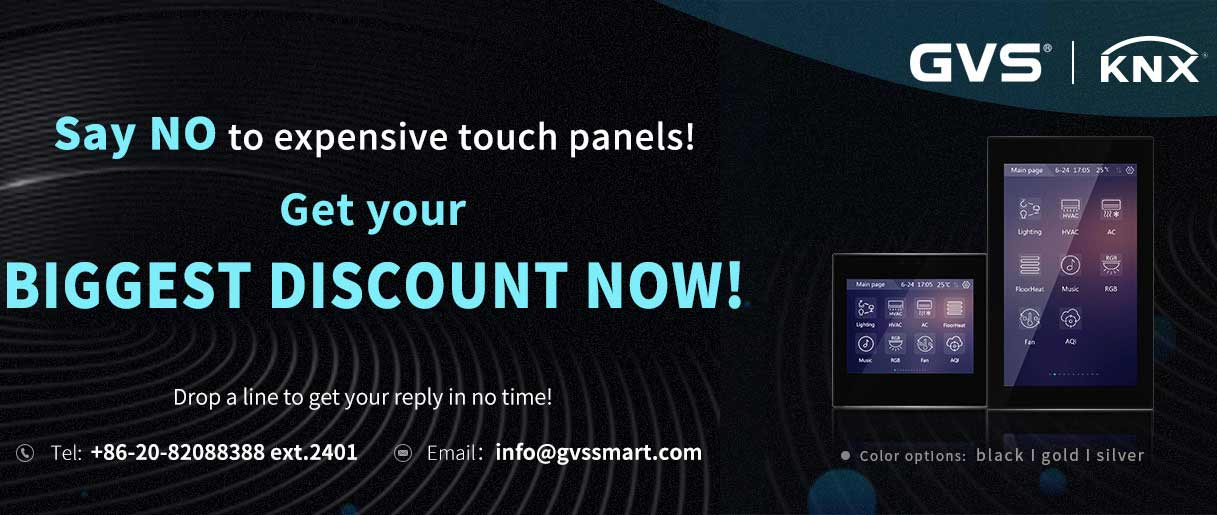Big Promotion for GVS' KNX Touch Panels